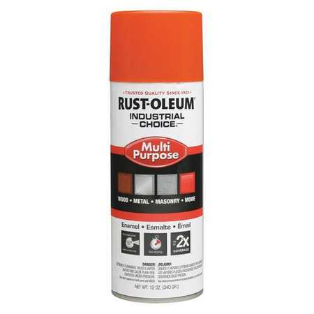 Spray Paint, OSHA Safety Orange, 12 oz.