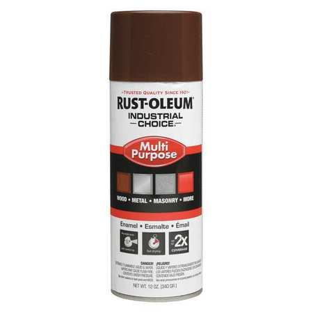 Industrial Spray Paint, Leather Brwn, 12oz