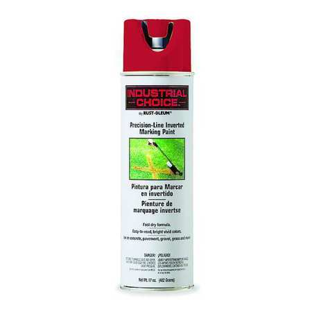 Precsn Line Marking Paint,  Red, 17 oz.