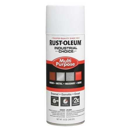 Spray Paint, Flat White, 12 oz.