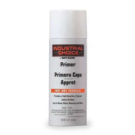Spray Primer, White, 12 oz.