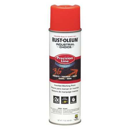 Line Marking Paint, Fl. Red Orange, 17 oz.