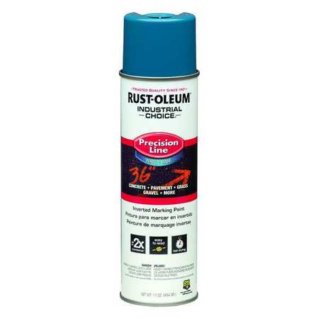 Precsn Line Marking Paint, Blue, 17 oz.