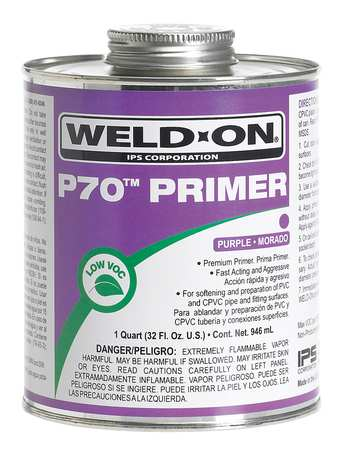 Primer, Purple, 32 Oz, PVC and CPVC