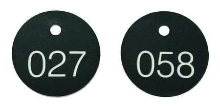 Numbered Tags, 1-1/8in, 101 to 200, PK100