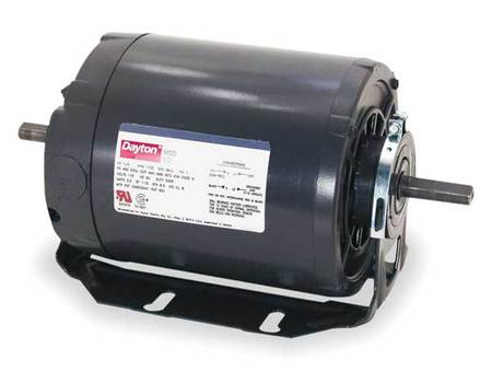 Tool Motor, 2-Shaft, 1/2hp, 3450rpm, 115V