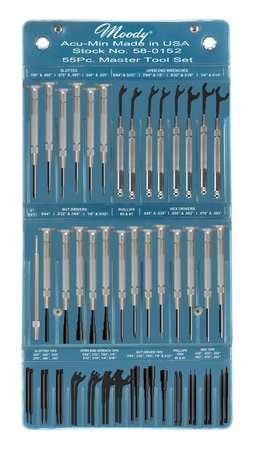 Precision Screwdriver Set, Combo, 55 pcs.