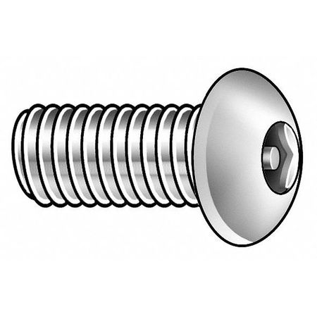 "#12-24 x 1/2"" Button Head Hex Head Tamper Resistant Screw,  25 pk."
