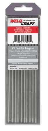 """7"""" Tungsten Electrode 0.040"""" Dia.,  Pk10"""