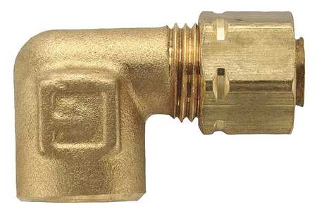 "3/8"" Compression x 1/4"" FNPT Brass 90 Degree Elbow 10PK"