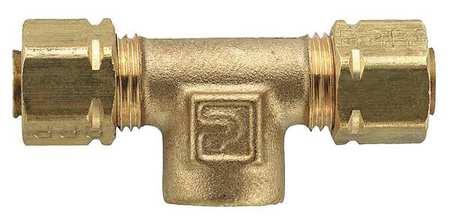 """1/4"""" Compression x 1/8"""" FNPT Brass Branch Tee 10PK"""