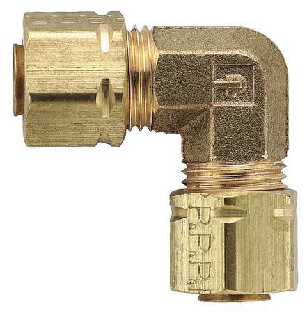 "1/4"" Compression Brass Union 90 Degree Elbow 10PK"