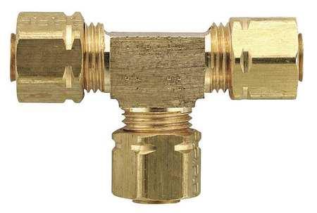 "1/4"" Compression-Align Brass Union Tee 25PK"