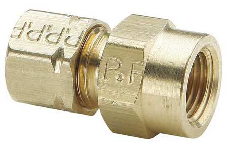 "1/2"" Compression x FNPT Brass Connector 10PK"