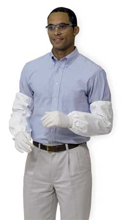 Disposable Sleeves, 18 In. L, White, PK200
