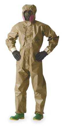 Hooded Tychem(R) CPF 3, Tan, Gloves, L, PK6