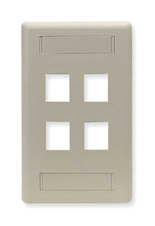 Wall Plate, 4 Port