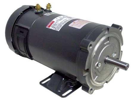 DC Motor, PM, TEFC, 1 HP, 1800 rpm, 24VDC