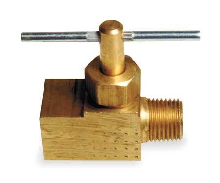 Needle Valve, Straight, Brass, 1/8 In.