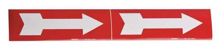 Pipe Marker, Arrow - Single, Red, 3 to 6 In