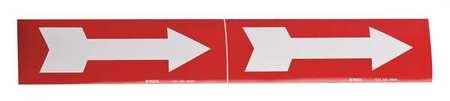 Pipe Marker, Arrow - Single, R, 6 In orGrtr