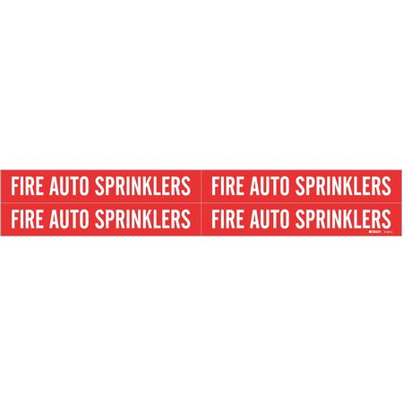 Pipe Mrkr, Fire AutoSprinklers, 3/4to2-3/8