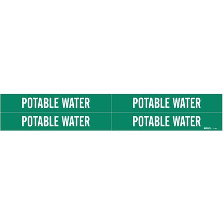Pipe Marker, Potable Water, 3/4to2-3/8 In