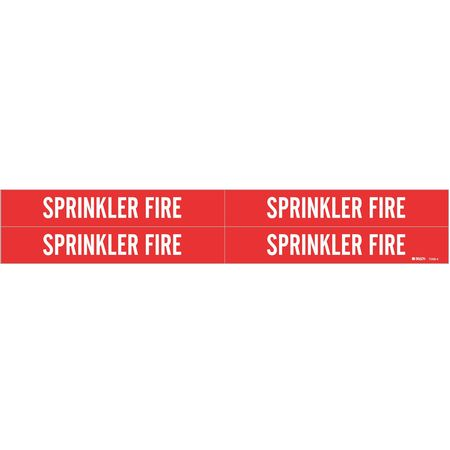 Pipe Marker, Sprinkler Fire, 3/4to2-3/8 In