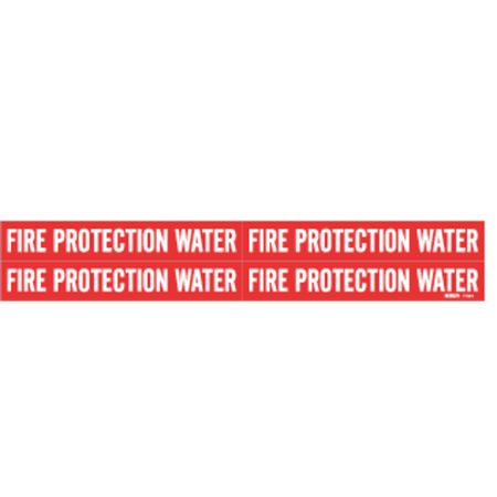 Pipe Marker, Fire Protection Water, Red