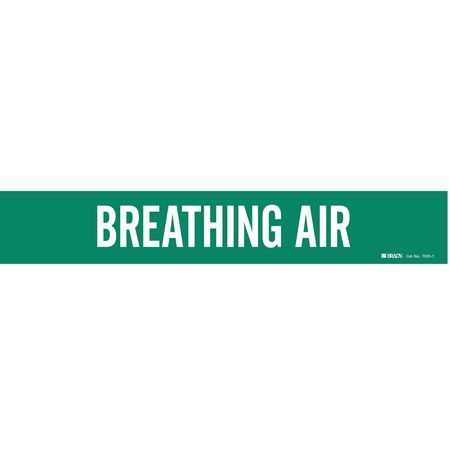 Pipe Marker, Breathing Air, Gn, 8 In orGrtr