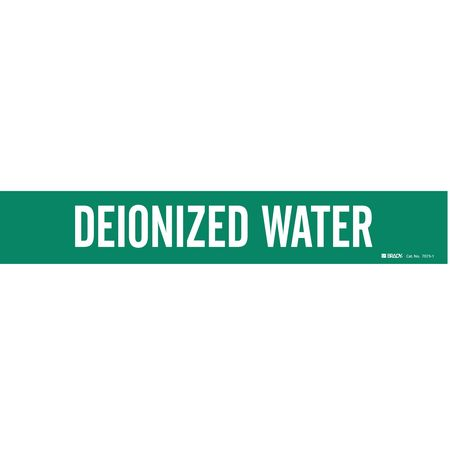 Pipe Mrkr, Deionized Water, 2-1/2to7-7/8In