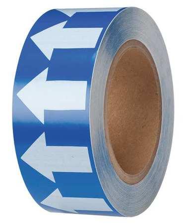 Arrow Tape, White/Blue, 2 In. W