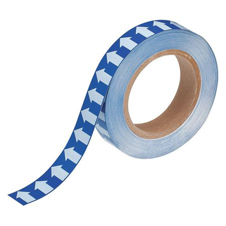 Arrow Tape, White/Blue, 1 In. W