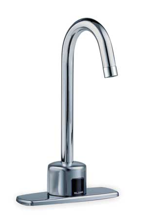 Sensor Bathroom Faucet Gooseneck Spout,  Chrome,  1 Hole