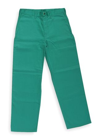 Flame-Retardant Treated Cotton Pants, Green, 3XL