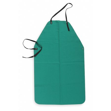 Flame-Retardant Apron,  Green,  Cotton