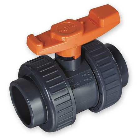 "2"" Socket PVC Ball Valve Inline True Union"