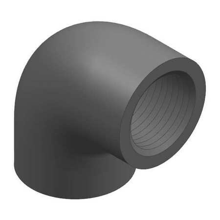 "1"" FNPT PVC 90 Degree Elbow Sched 80"