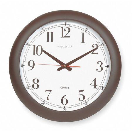 "18"" Analog Quartz Wall Clock,  Black"