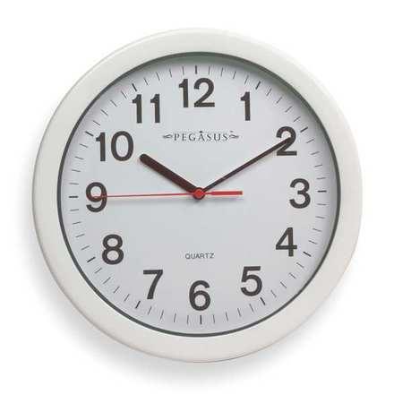 "10-1/4"" Analog Quartz Indoor/Outdoor Wall Clock,  White"