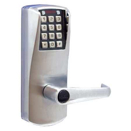 E Plex Electronic Lock Satin Chrome 12 Button