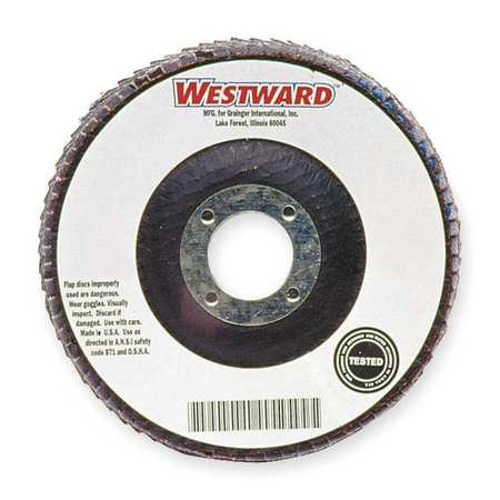 Arbor Mount Flap Disc, 4-1/2in, 60, Med.