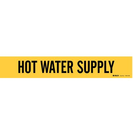 Pipe Marker, Hot Water Suppl8 In or Grtr