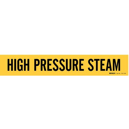 Pipe Mrkr, High Pressure Steam, 8In orGrtr