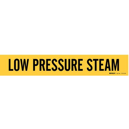 Pipe Mrkr, Low Pressure Steam, 8 In orGrtr