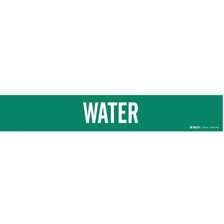 Pipe Marker, Water, Green, 8 In or Greater
