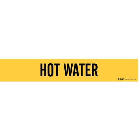 Pipe Marker, Hot Water, Y, 8 In or Greater