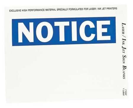 Sign & Label Blanks, Blue/Wht, Plystr, PK25