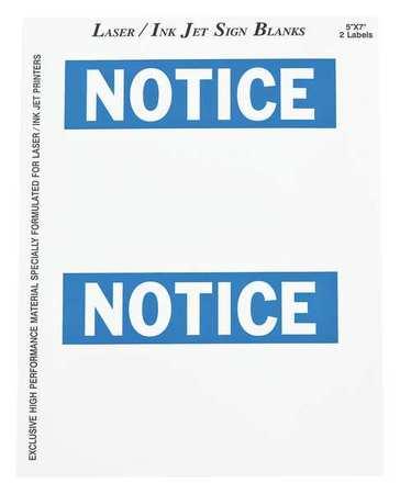 Sign Blank Label, 5 In. H, 7 In. W, PK25