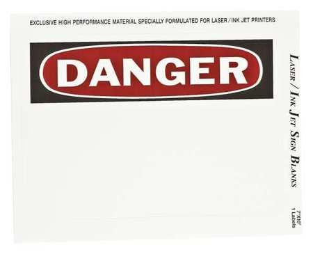 Sign & Label Blanks, Bk/Red/Wht, PK25